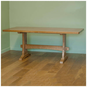Colin 'Beaverman' Almack (Ex-Mouseman) Arts & Crafts Yorkshire Oak Dining Table