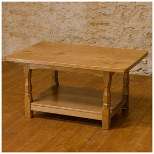 Colin 'Beaverman' Almack (Ex-Mouseman) Arts & Crafts Yorkshire Oak Coffee Table