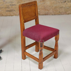 Set of 4 Thomas 'Gnomeman' Whittaker Arts & Crafts Yorkshire School Oak  chairs