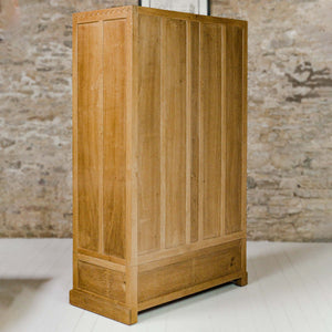 Eagleman (Ex-Mouseman) Arts & Crafts Yorkshire School Oak Double Wardrobe [a]