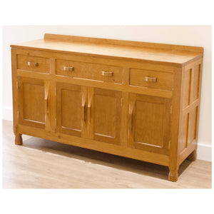 Derek Lizardman Slater Derek Slater Antique Adzed Yorkshire School Oak Sideboard