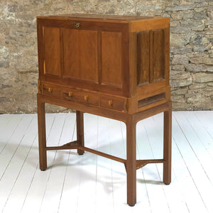 Hugh Birkett (Ex-Oliver Morel) Arts & Crafts Cotswold School English Yew Bureau