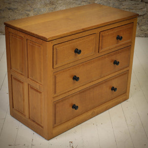 Phil Langstaff Arts & Crafts Yorkshire School English Oak Chest of Drawers (b)