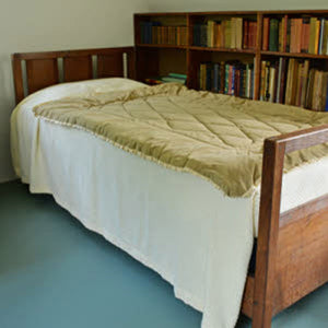 Ernest Gimson Arts & Crafts Cotswold School English Oak Double Bedstead c. 1900