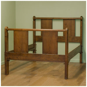 Ernest William Gimson Arts & Crafts Walnut Double Bed c. 1910