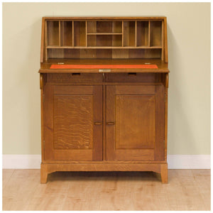 Fred Gardiner Arts & Crafts Cotswold School Oak Bureau