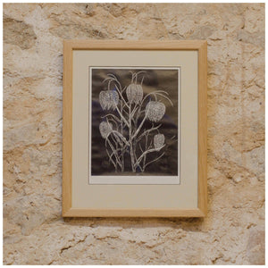George Reiss (Kendal Artist) Limited Edition Linocut 'Fritillaries'