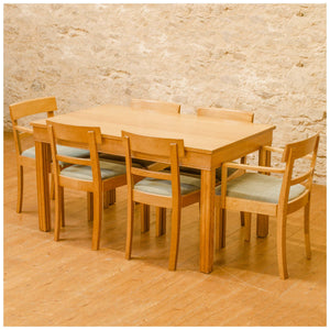 Gordon Russell Arts & Crafts Cotswold School Oak 'Weston' Table & 6 Chairs c.1935