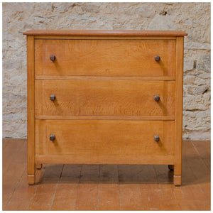 Gordon Russell Arts & Crafts Cotswold School Coxwell Oak Chest of Drawers 1929