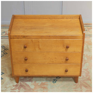 Gordon Russell Arts & Crafts Cotswold School English Oak Chest of Drawers c 1940