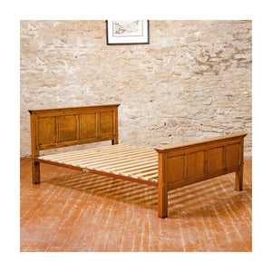 Gordon Russell Design 401 Arts & Crafts Cotswold School King Size Oak Bed, 1929