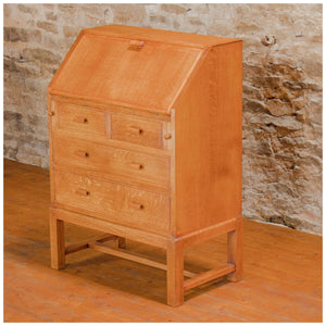 Heal and Co (Ambrose Heal) Arts & Crafts Cotswold School Oak Bureau