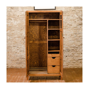 Heal and Co (Ambrose Heal) Arts & Crafts Cotswold School Oak Wardrobe c. 1930