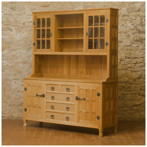 Horace 'Knightman' Knight Arts & Crafts Yorkshire School English Oak Dresser