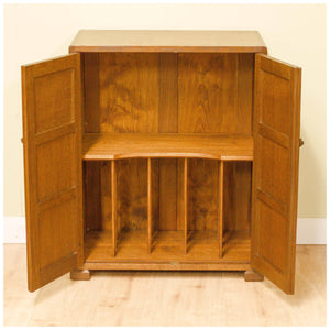 James Cleasby Dent (Ex-Stanley Webb Davies) Arts and Crafts Oak Media Cabinet