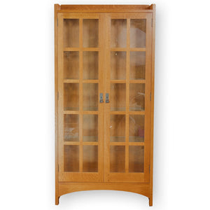 L. & J. G Stickley Arts & Crafts Mission School '815' Oak Display Cabinet
