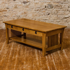L. & J. G Stickley Arts & Crafts Mission School Quarter-sawn Oak Coffee Table