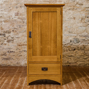 L. & J. G Stickley Arts & Crafts Mission School Quarter-sawn Oak Media Cabinet