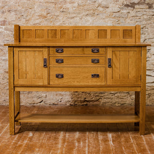 L. & J. G Stickley Arts & Crafts Mission School Quarter-sawn Oak Sideboard 2005