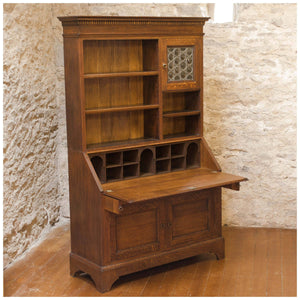 Liberty & Co Arts & Crafts English Oak Bureau Bookcase c. 1900