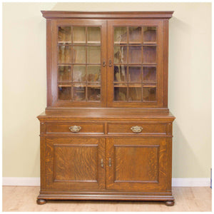 Liberty & Co A Late Victorian Glazed Quarter-Sawn Oak Library Bookcase