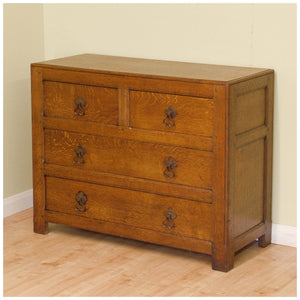 Liberty & Co Arts and Crafts Oak Chest of Drawers 1924