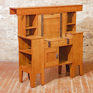 Liberty & Co Arts & Crafts English Oak Desk Designed by Leonard Wyburd c. 1920