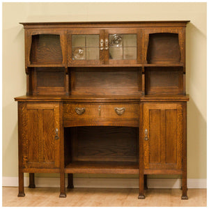 Liberty & Co Arts & Crafts Oak 'Milverton' Dresser with Heart Shaped Handles