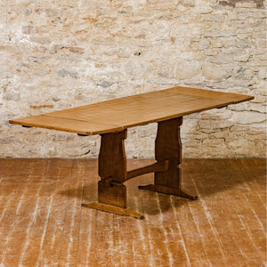 Martin Lizardman Dutton Arts & Crafts Yorkshire School Oak Extending Table