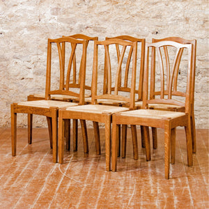 Peter Evans (Ex-Barnsley) Set of 6 Arts & Crafts Cotswold School Oak Chairs