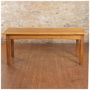 Peter Hall Arts & Crafts Lakes School English Oak Arched Rail Dining Table