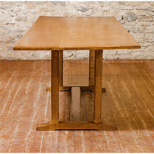 Reynolds of Ludlow Arts & Crafts Cotswold School English Oak Dining Table c 1950