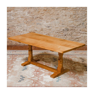 Robert 'Mouseman' Thompson 6 foot Arts & Crafts Yorkshire School Oak Dining Table