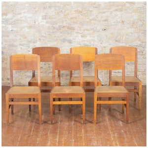 Robert Mouseman Thompson Arts & Crafts Yorkshire School English Oak Chairs