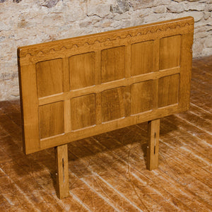 Robert Mouseman Thompson Arts & Crafts Yorkshire School English Oak Headboard