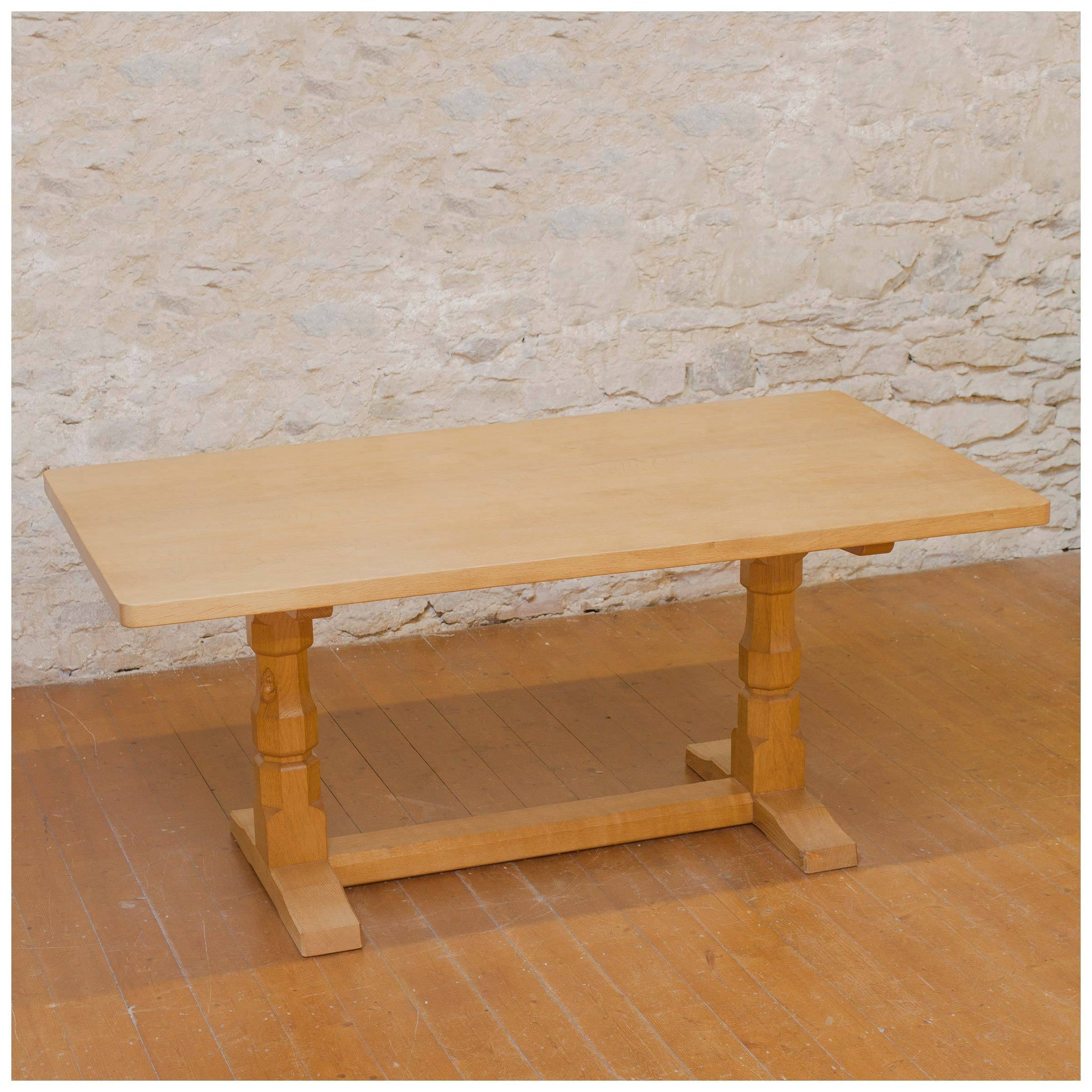 Robert Mouseman Thompson Arts Crafts Yorkshire School Dining Table