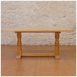 Robert 'Mouseman' Thompson Arts & Crafts Yorkshire School Dining Table