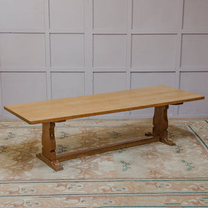 Robert Mouseman Thompson Arts & Crafts Yorkshire School Oak Dining Table c. 1960