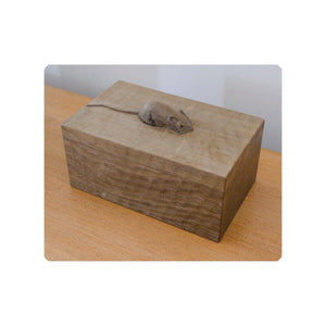 Robert 'Mouseman' Thompson Robert 'Mouseman' Thompson GS130 Solid Oak Trinket Box 7w