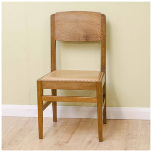 Robert 'Mouseman' Thompson Robert 'Mouseman' Thompson Yorkshire School Oak and Leather Chair