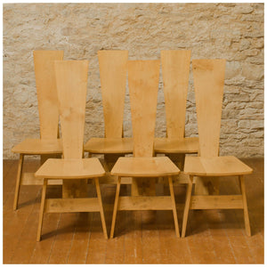 Rowena Lee Arts & Crafts Lakes School English Oak 6 Chairs