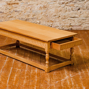 Rupert Griffiths Arts & Crafts English Oak 4ft Coffee Table with drawers