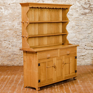 Rupert Griffiths Arts & Crafts Gothic School English Oak Dresser