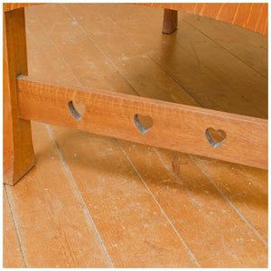 Shapland & Petter, Barnstaple Arts & Crafts English Oak Dressing Chest with hearts