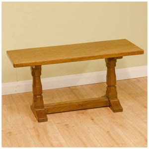 Sid Pollard (Ex-Mouseman) Yorkshire School Adzed Oak Coffee Table