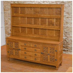 Sid Pollard [Ex-Mouseman] Arts & Crafts Yorkshire School English Oak Dresser