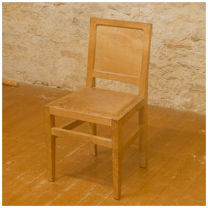 Squirrelman (Ex-Mouseman) Arts & Crafts Yorkshire School Oak Dining Chairs 1963