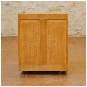 Stanley Webb Davies Arts & Crafts Lakes School English Oak Cabinet 1957