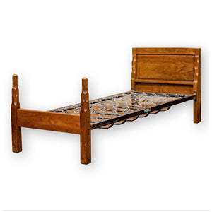 Stanley Webb Davies Arts & Crafts Lakes School Furniture Walnut Single Bed 1932