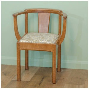 Stanley Webb Davies Arts & Crafts Oak Armchair/Tub Chair 1952